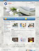 Сайт клининговой компании (серо-голубой)
